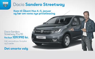 Få meget bil for pengene med en Dacia Sandero Streetway