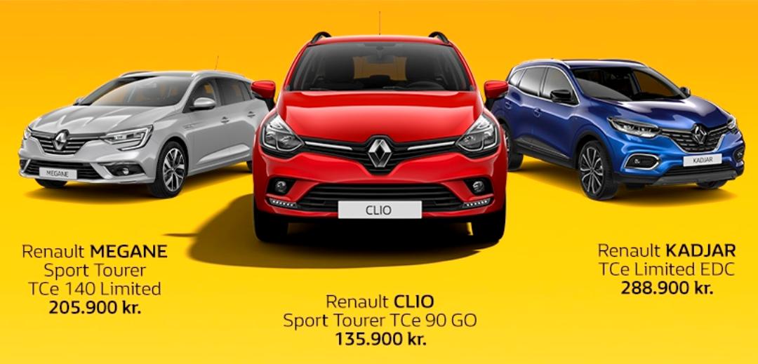 Renault lagersalg – ekstra gode priser